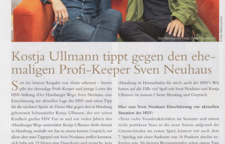 Kostja Ullmann tippt gegen Sven Neuhaus im maison f.