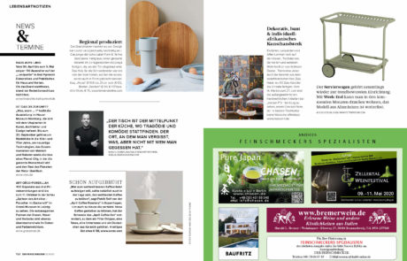 maison f. - feature im Feinschmecker Magazin